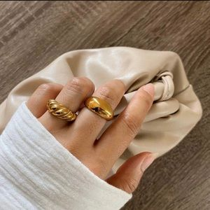 KAYJ  •  14K Gold-Plated Stainless Steel Dome Ring